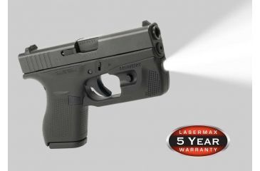 Lasermax Centerfire Led Weapon Light For Glock 42 And Glock 43 With